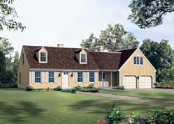 Cape-Cod Style House Plans Plan: 77-579