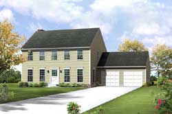 Early-American Style Home Design Plan: 77-591