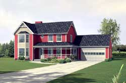 Victorian Style Floor Plans Plan: 77-593