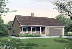 Traditional Style Home Design Plan: 77-594