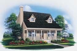 Cape-Cod Style House Plans Plan: 77-603