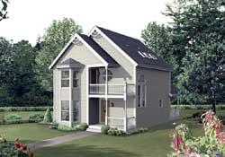 Victorian Style Home Design Plan: 77-605