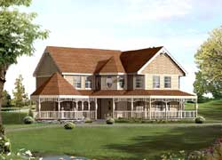 Victorian Style House Plans Plan: 77-608