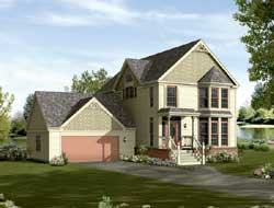 Victorian Style House Plans Plan: 77-609