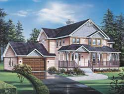 Victorian Style House Plans Plan: 77-610