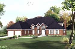 European Style House Plans Plan: 77-619