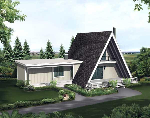 Contemporary Style Home Design Plan: 77-644