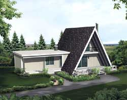 Contemporary Style Floor Plans Plan: 77-644