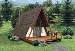 Contemporary Style Home Design Plan: 77-666
