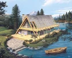 Contemporary Style Home Design Plan: 77-667