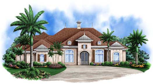Mediterranean Style House Plans Plan: 78-102