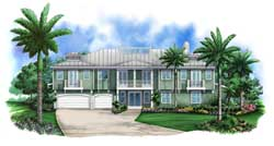 Coastal Style Floor Plans Plan: 78-104