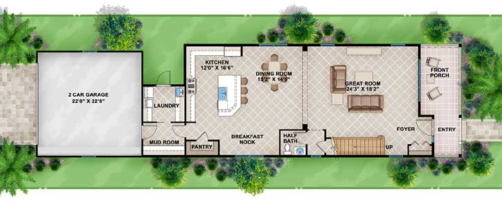 Main Floor Plan: 78-114