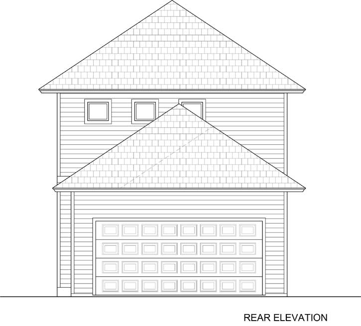 Rear Elevation Plan: 78-114