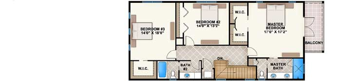 Upper/Second Floor Plan: 78-114
