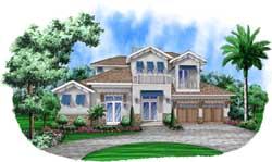 Coastal Style Home Design Plan: 78-127
