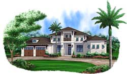 Coastal Style Home Design Plan: 78-128