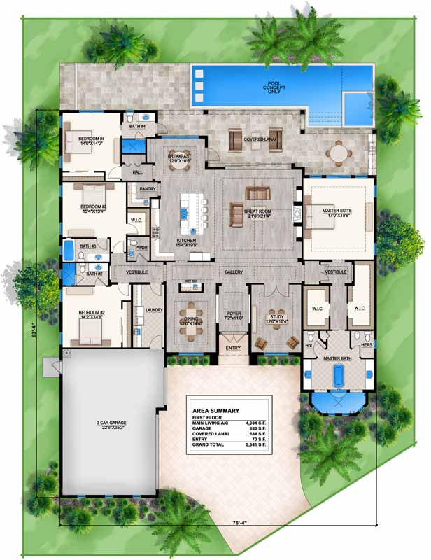 Main Floor Plan: 78-129