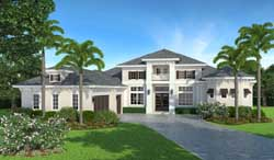 Coastal Style Home Design Plan: 78-129