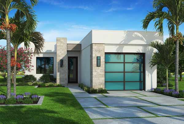 Modern Style House Plans Plan: 78-130