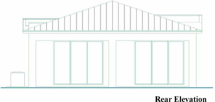 Rear Elevation Plan: 78-130