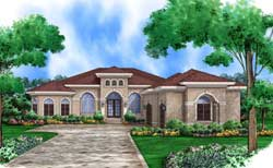 Mediterranean Style House Plans Plan: 78-131