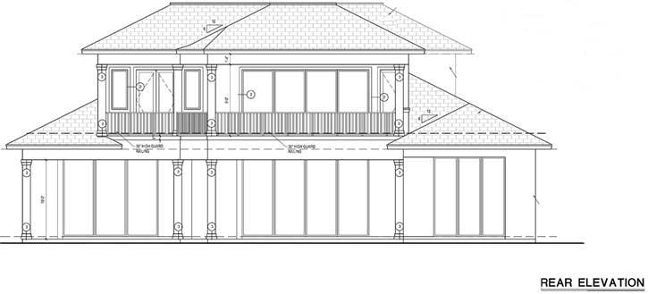 Rear Elevation Plan: 78-132