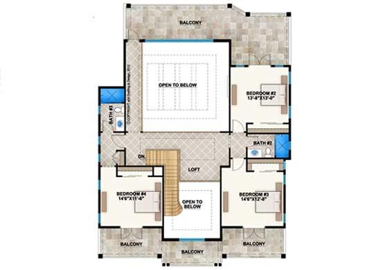 Upper/Second Floor Plan: 78-132