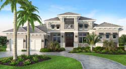 Florida Style Home Design Plan: 78-134