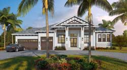 Florida Style House Plans Plan: 78-136