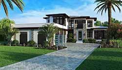 Modern Style Home Design Plan: 78-155