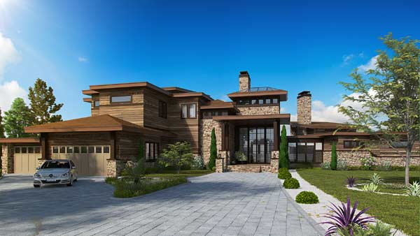 Modern Style House Plans Plan: 79-101