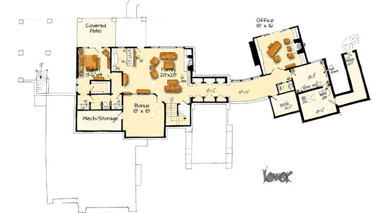 Lower Floor Plan: 79-101