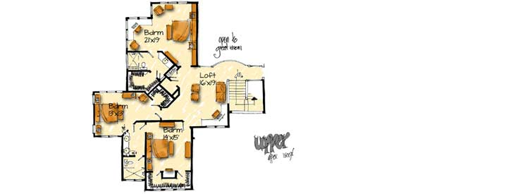 Upper/Second Floor Plan: 79-101