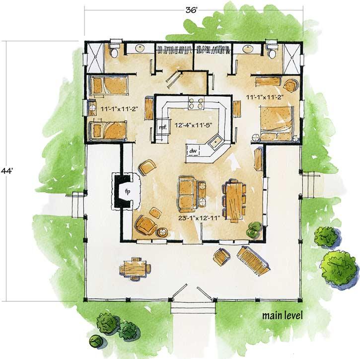 Main Floor Plan: 79-102