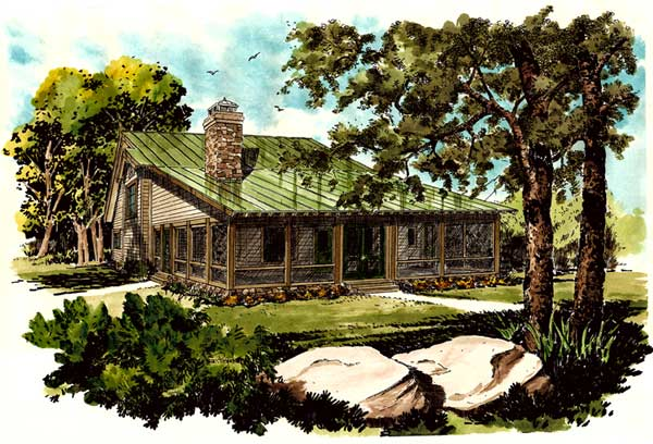 Country Style Home Design Plan: 79-103