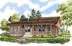 Country Style Home Design Plan: 79-104