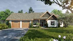 Ranch Style Home Design Plan: 79-105