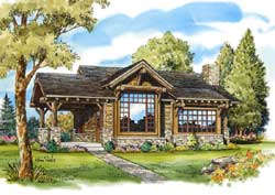 Mountain-or-Rustic Style Floor Plans Plan: 79-106