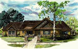 Craftsman Style Home Design Plan: 79-107