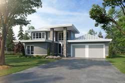 Modern Style Floor Plans Plan: 79-108