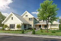 Modern-Farmhouse Style Home Design Plan: 79-109
