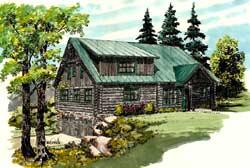 Modern-Farmhouse Style Home Design Plan: 79-111