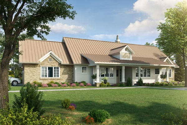Ranch Style Home Design Plan: 79-113