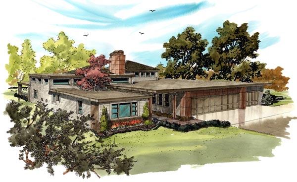 Modern Style Home Design Plan: 79-114