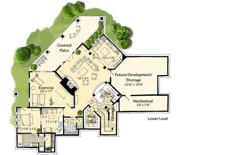 Lower Floor Plan: 79-116