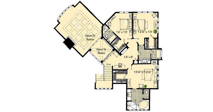 Upper/Second Floor Plan: 79-116
