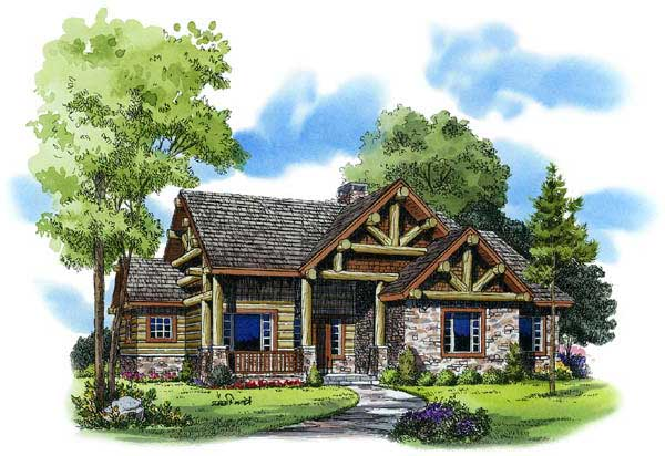 Mountain-or-rustic Style Floor Plans Plan: 79-117