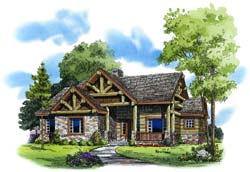 Mountain-or-Rustic Style House Plans Plan: 79-117