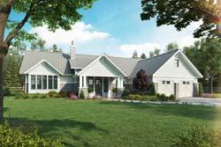 Craftsman Style Home Design Plan: 79-121